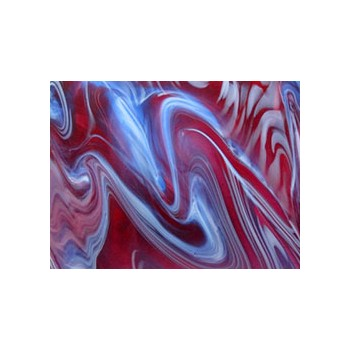 Northwest Art Glass Non-Fusible Sheet Glass, Verrerie de St. Just, Bariole Streakies