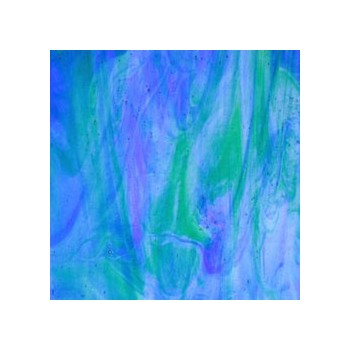 Northwest Art Glass Non-Fusible Sheet Glass, Wissmach, Streaky, Smooth