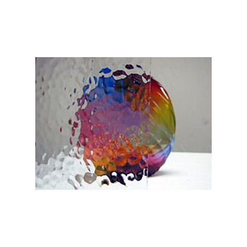 Northwest Art Glass Non-Fusible Sheet Glass, Oversized Clear Glass, Spectrum