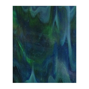 Northwest Art Glass Non-Fusible Sheet Glass, Kokomo, Opal Mixes