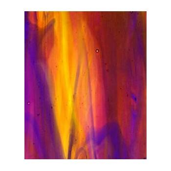 Northwest Art Glass Non-Fusible Sheet Glass, Kokomo, Streaky