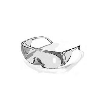 Safety Glasses fits over most prescription glasses.