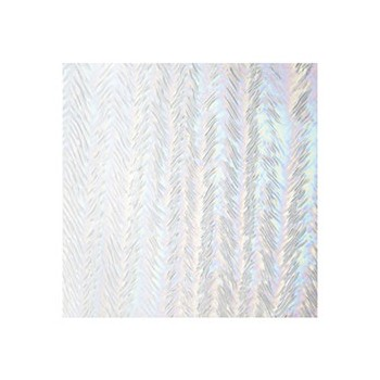 Clear Herringbone Ripple Irid