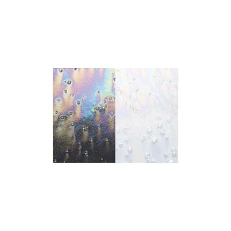 Clear with Clear Frit, Rainbow Irid