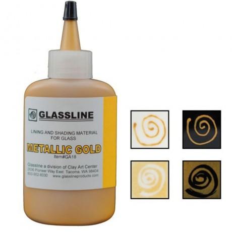 Metallic Gold Glassline Paint
