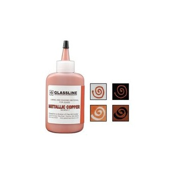 Metallic Copper Glassline Paint